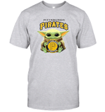 Baby Yoda Loves Pittsburgh Pirates The Mandalorian Fan T-Shirt