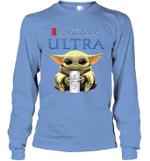 Baby Yoda Loves Michelob Ultra Beer The Mandalorian Fan Long Sleeve T-Shirt