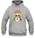 Baby Yoda Loves Houston Rockets The Mandalorian Fan Hoodie