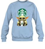 Baby Yoda Loves Starbucks Coffee The Mandalorian Fan Sweatshirt