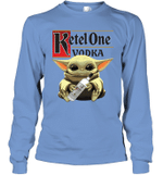 Baby Yoda Loves Ketel One Vodka The Mandalorian Fan Long Sleeve T-Shirt