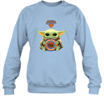 Baby Yoda Loves New York Knicks The Mandalorian Fan Sweatshirt