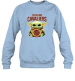 Baby Yoda Loves Cleveland Cavaliers The Mandalorian Fan Sweatshirt