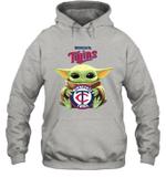 Baby Yoda Loves Minnesota Twins The Mandalorian Fan Hoodie