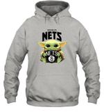 Baby Yoda Loves Brooklyn Nets The Mandalorian Fan Hoodie