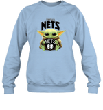 Baby Yoda Loves Brooklyn Nets The Mandalorian Fan Sweatshirt