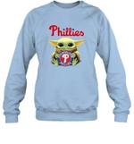 Baby Yoda Loves Philadelphia Phillies The Mandalorian Fan Sweatshirt