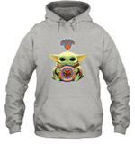 Baby Yoda Loves New York Knicks The Mandalorian Fan Hoodie