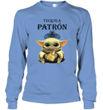 Baby Yoda Loves Patron The Mandalorian Fan Long Sleeve T-Shirt