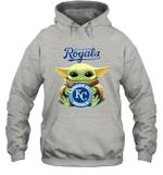Baby Yoda Loves Kansas City Royals The Mandalorian Fan Hoodie