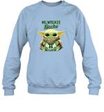 Baby Yoda Loves Milwaukee Bucks The Mandalorian Fan Sweatshirt
