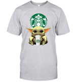 Baby Yoda Loves Starbucks Coffee The Mandalorian Fan T-Shirt