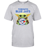 Baby Yoda Loves Toronto Blue Jays The Mandalorian Fan T-Shirt