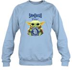 Baby Yoda Loves San Diego Padres The Mandalorian Fan Sweatshirt