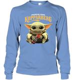 Baby Yoda Loves Kopparbergs Brewery Beer The Mandalorian Fan Long Sleeve T-Shirt