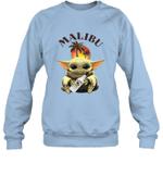 Baby Yoda Loves Malibu Rum The Mandalorian Fan Sweatshirt