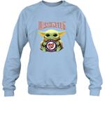 Baby Yoda Loves Washington Nationals The Mandalorian Fan Sweatshirt