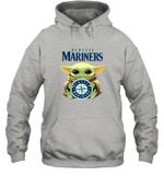 Baby Yoda Loves Seattle Mariners The Mandalorian Fan Hoodie