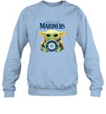 Baby Yoda Loves Seattle Mariners The Mandalorian Fan Sweatshirt