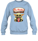 Baby Yoda Loves Tim Hortons Coffee The Mandalorian Fan Sweatshirt