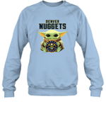 Baby Yoda Loves Denver Nuggets The Mandalorian Fan Sweatshirt