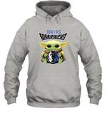 Baby Yoda Loves Dallas Mavericks The Mandalorian Fan Hoodie