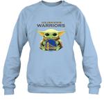 Baby Yoda Loves Golden State Warriors The Mandalorian Fan Sweatshirt