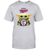 Baby Yoda Loves Minnesota Twins The Mandalorian Fan T-Shirt