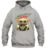 Baby Yoda Loves Moutain Dew The Mandalorian Fan Hoodie