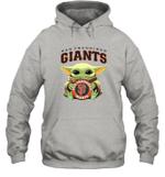 Baby Yoda Loves San Francisco Giants The Mandalorian Fan Hoodie