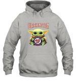 Baby Yoda Loves Washington Nationals The Mandalorian Fan Hoodie