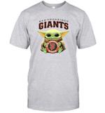 Baby Yoda Loves San Francisco Giants The Mandalorian Fan T-Shirt