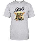 Baby Yoda Loves Sailor Jerry The Mandalorian Fan T-Shirt