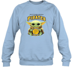 Baby Yoda Loves Pittsburgh Pirates The Mandalorian Fan Sweatshirt