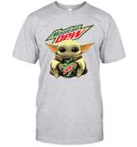 Baby Yoda Loves Moutain Dew The Mandalorian Fan T-Shirt