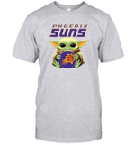 Baby Yoda Loves Phoenix Suns The Mandalorian Fan T-Shirt