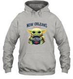 Baby Yoda Loves New Orleans Pelicans The Mandalorian Fan Hoodie