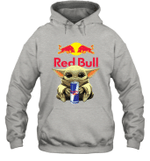 Baby Yoda Loves Red Bull Energy Drink The Mandalorian Fan Hoodie