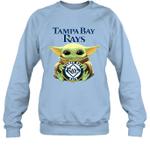 Baby Yoda Loves Tampa Bay Rays The Mandalorian Fan Sweatshirt