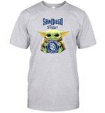 Baby Yoda Loves San Diego Padres The Mandalorian Fan T-Shirt