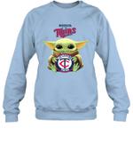 Baby Yoda Loves Minnesota Twins The Mandalorian Fan Sweatshirt
