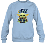 Baby Yoda Loves Utah Jazz The Mandalorian Fan Sweatshirt