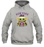 Baby Yoda Loves New York Mets The Mandalorian Fan Hoodie
