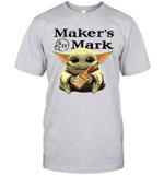 Baby Yoda Loves Maker_s Mark The Mandalorian Fan T-Shirt
