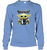 Baby Yoda Loves Dallas Mavericks The Mandalorian Fan Long Sleeve T-Shirt