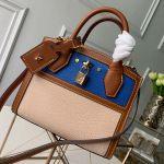 City Steamer Mini Top Handle Bag M55099 Blue/beige 2019 Collection