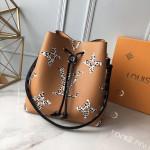 Néonoé Bucket Bag In Animal Print Monogram M44717 Caramel Brown 2019 Collection
