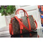 Monogram Canvas Soufflot Bb Open Top Handle Bag M44815 Red 2019 Collection