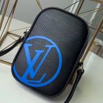 Men's Danube Pm Epi Leather Shoulder Bag M55120 Black/blue 2019 Collection