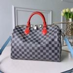 Speedy Bandouliere 30 Damier Canvas Top Handle Bag N40236 Black/white 2019 Collection